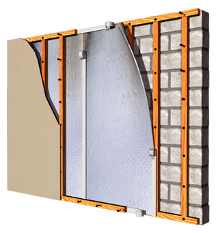 basement wall insulation block wall