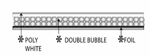 white double bubble wrap insulation