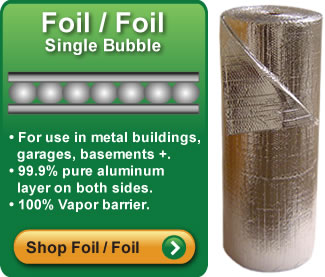 Single Bubble Foil Foil Insulation