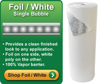 Single Bubble Foil White Insulation